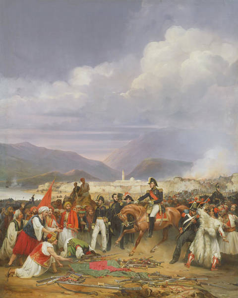 Siege Photograph - The Capture Of Morea Castle, 30th October 1828, 1836 Oil On Canvas by Jean Charles Langlois