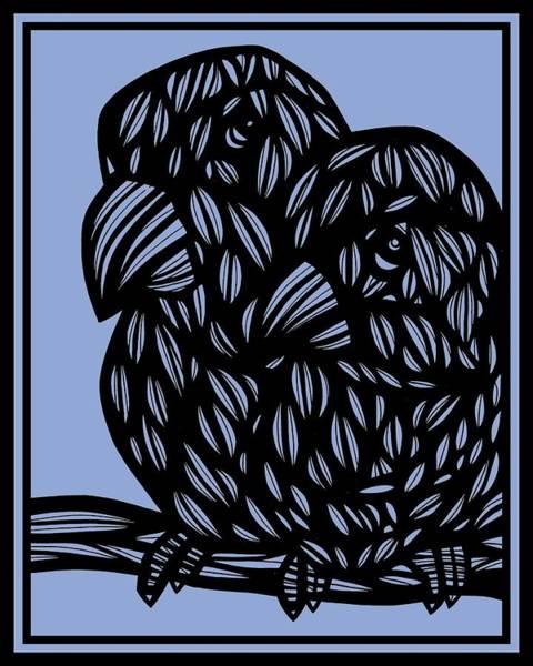 Blue Parrot Drawing - The Captured Birch by Eddie Alfaro