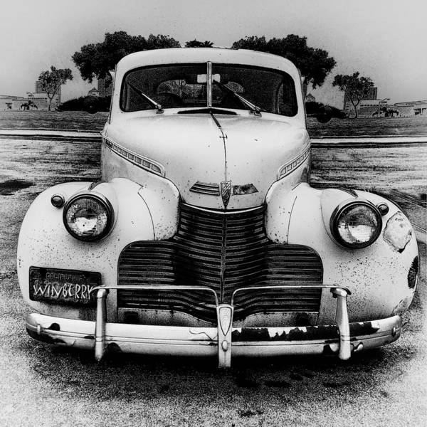 The Car In Texas Art Print