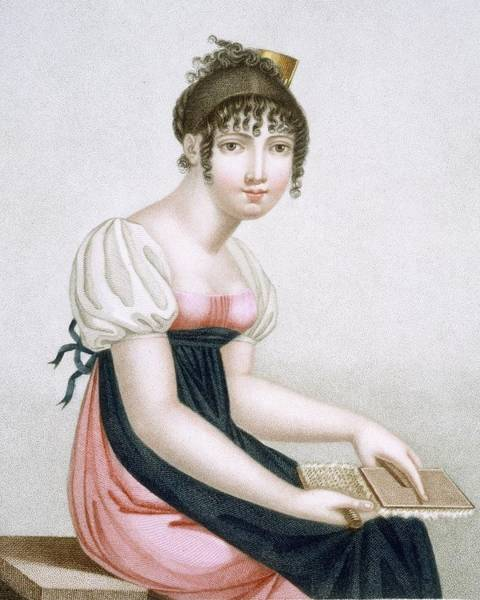 Prepare Drawing - The Carder, Engraved By Augrand, C.1816 by Madame G. Busset-Dubruste