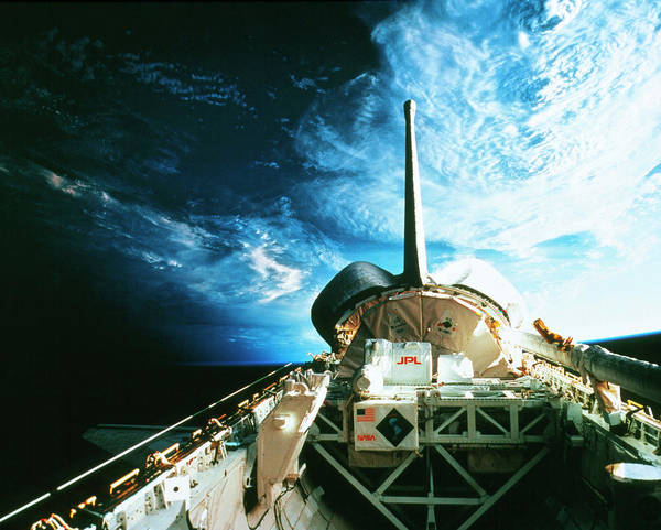 Wall Art - Photograph - The Cargo Bay Of Shuttle Columbia by Nasa/science Photo Library