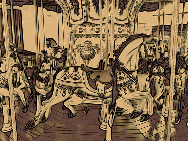 Photograph - The Carousel by Alice Gipson