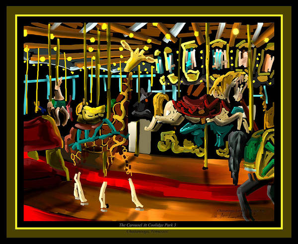 Coolidge Painting - The Carousel At Coolidge Park Three - Chattanooga Landmark Series - # 8 by Steven Lebron Langston