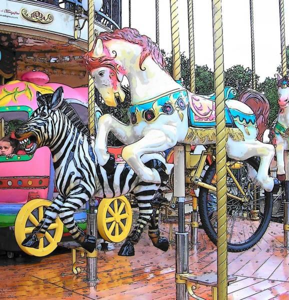 Carousel Digital Art - The Carousel In Paris by Jan Matson