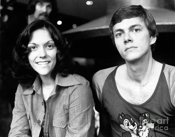 Chris Walter Wall Art - Photograph - The Carpenters 1972 by Chris Walter