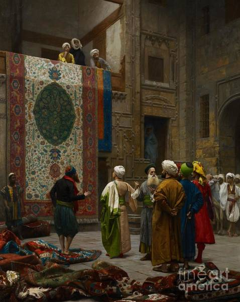Tapestries Textiles Wall Art - Painting - The Carpet Merchant by Jean Leon Gerome