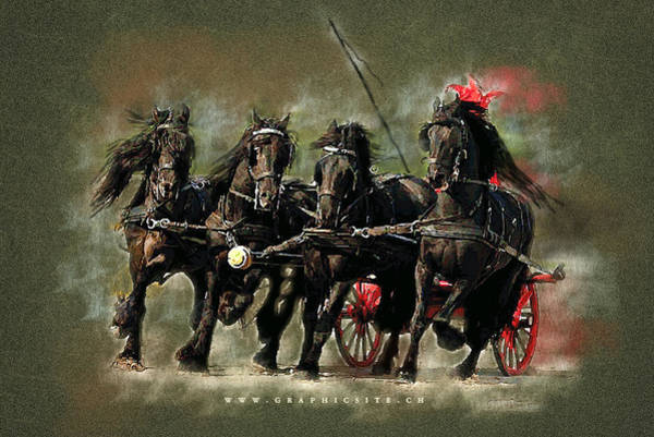 Wedding Gift Digital Art - The Carriage by Graphicsite Luzern