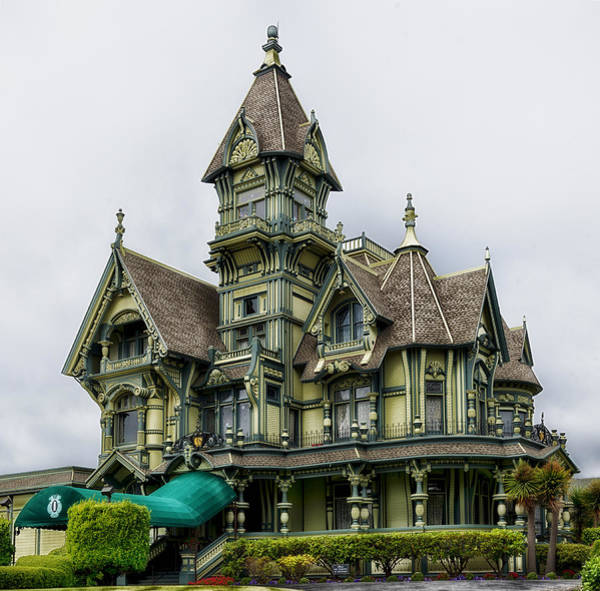 Queen Anne Style Photograph - The Carson Mansion by Mountain Dreams