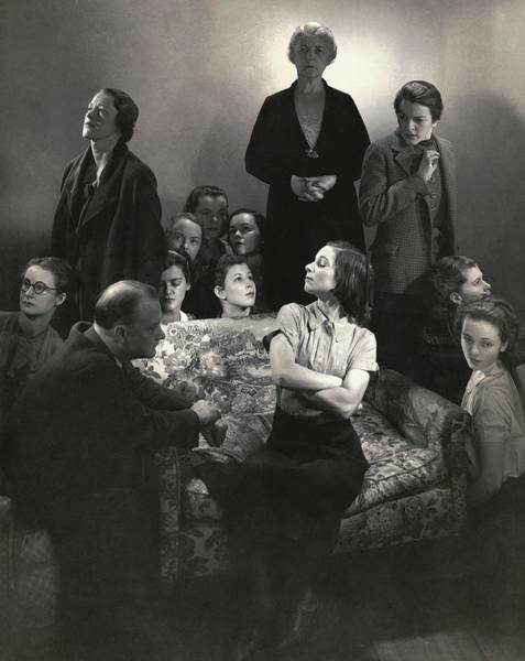 Child Actress Wall Art - Photograph - The Cast Of The Children's Hour by Edward Steichen