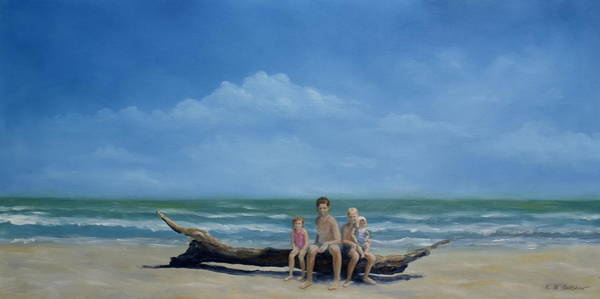 Gulf State Park Painting - The Castaways by Karen Butcher