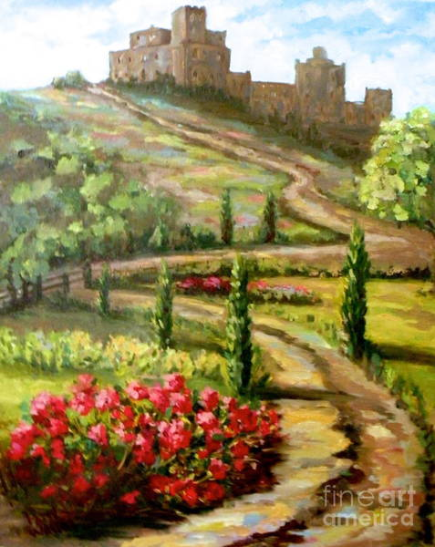Painting - The Castle At Ansouis by Patsy Walton