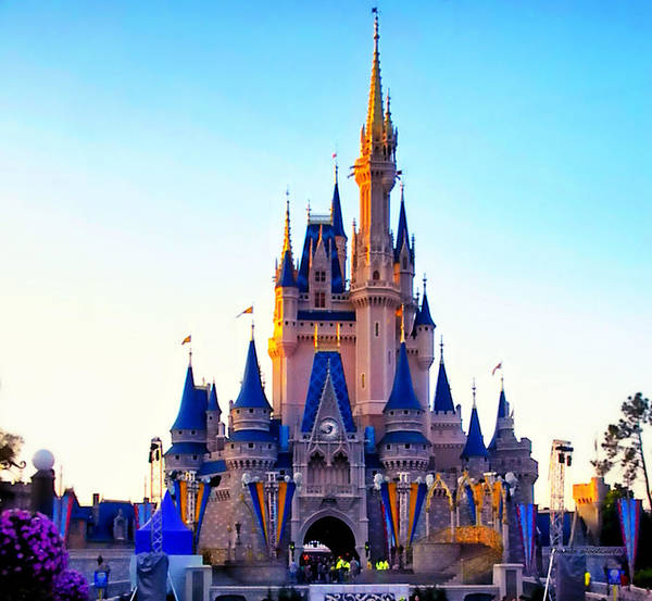 Wall Art - Photograph - The Castle At Sunset Walt Disney World by Thomas Woolworth