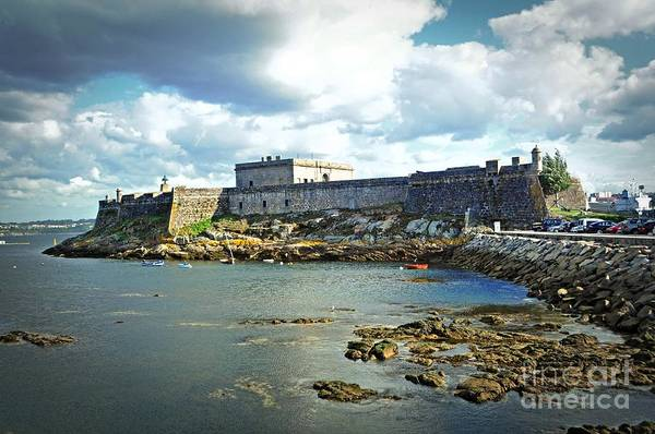 Galicia Photograph - The Castle Fort On The Harbor by Mary Machare