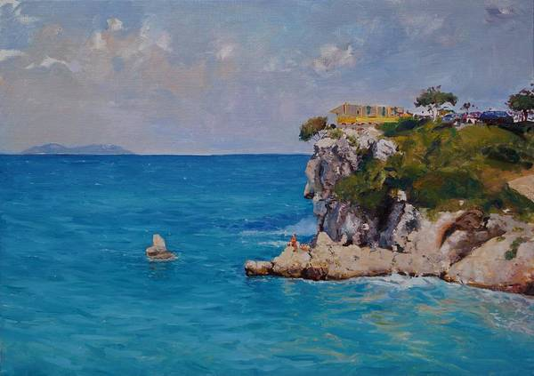 Painting - The Castle In Vlora by Sefedin Stafa