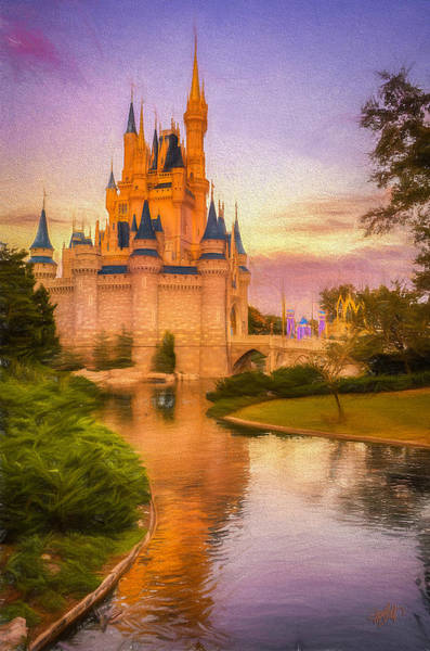 Disney World Digital Art - The Castle by Michael Petrizzo
