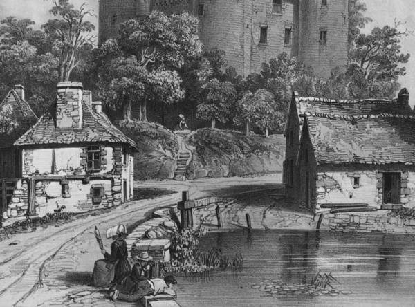 Wall Art - Photograph - The Castle Of Combourg Detail See Also 382376 Litho by Felix Benoist