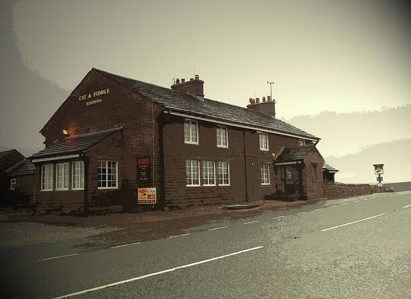 Wall Art - Drawing - The Cat And Fiddle Public House, Pictured Here by Litz Collection