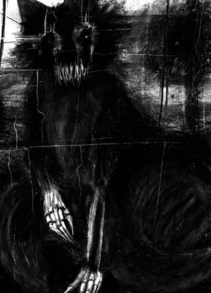 Demonic Drawing - The Cat by Kaelynn Krempel