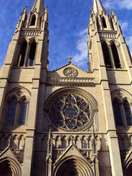 Photograph - The Cathedral Basilica Of The Immaculate Conception 2 by Angelina Tamez