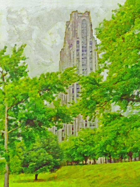 Digital Art - The Cathedral Of Learning 1 by Digital Photographic Arts