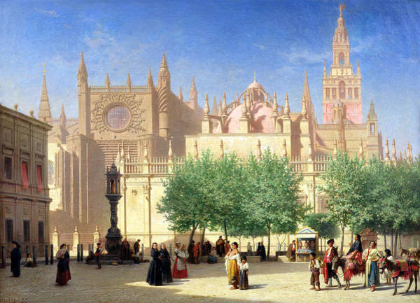 Daylight Painting - The Cathedral Of Seville by Achille Zo