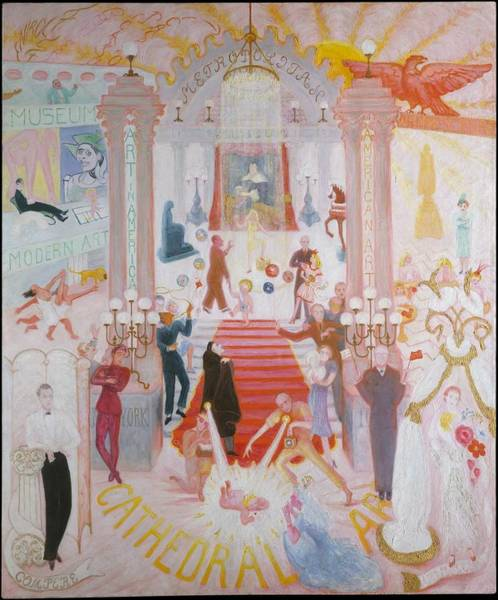 Central America Painting - The Cathedrals Of Art by Florine Stettheimer