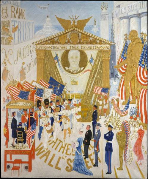 Central America Painting - The Cathedrals Of Wall Street by Florine Stettheimer