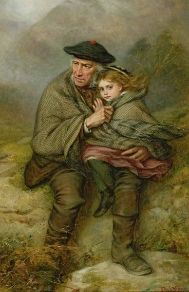 Granddaughter Painting - The Cauld Blast, 1876 by Joshua Hargrave Sams Mann