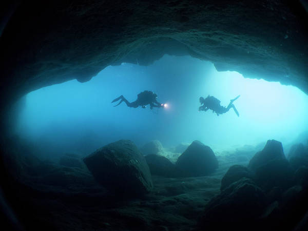 Underwater Diving Photograph - The Cave by Antonio Camacho