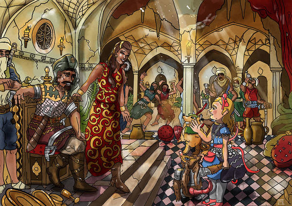 Painting - The Cave Of Ali Baba by Reynold Jay