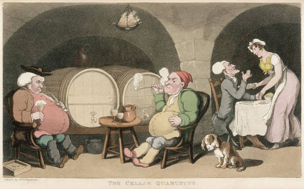 Wall Art - Drawing - The Cellar Quartetto Dr Syntax by Mary Evans Picture Library