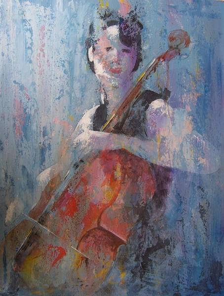 Wall Art - Painting - The Cello by John Henne
