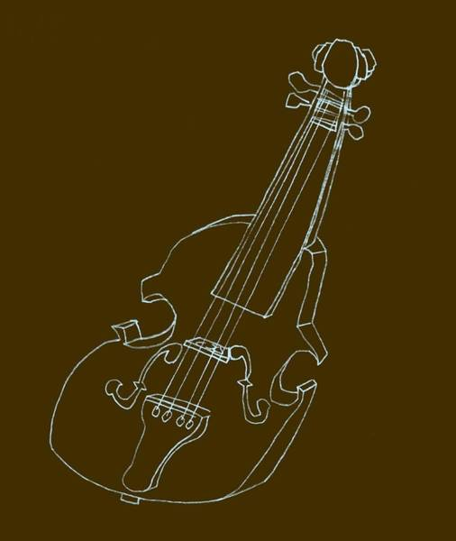 Digital Art - The Cello by Michelle Calkins
