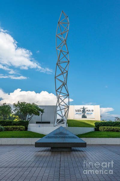 Challenger Photograph - The Challenger Memorial - Bayfront Park - Miami by Ian Monk