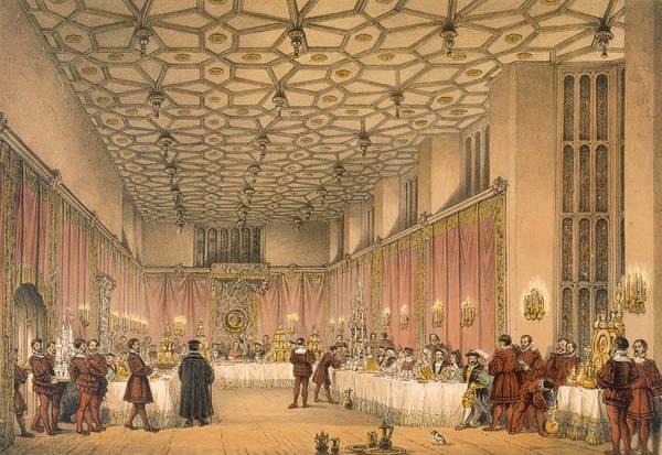 Palace Drawing - The Chamber, Hampton Court by Joseph Nash