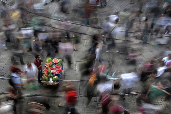 Market Wall Art - Photograph - The  Chaos Of The City by Fatih Balkan