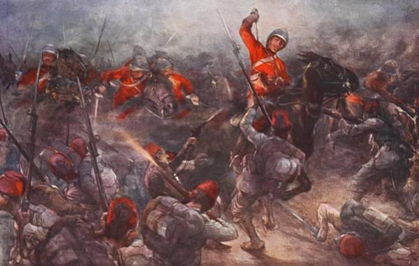 Soldier Drawing - The Charge Of Drury Lowes Cavalry by Christopher Clark