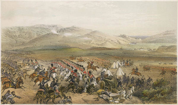Brigade Drawing - The Charge Of The Heavy  Cavalry by Mary Evans Picture Library
