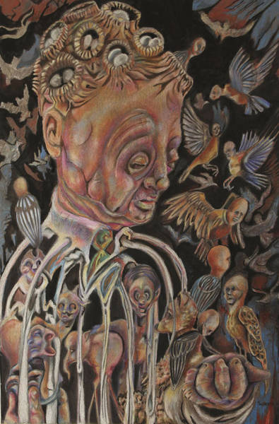 Surrealist Drawing - The Charismatic Qualities Of Mr. Jack Downsby by Michael Sienerth