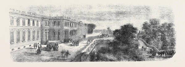 Chateau Drawing - The Chateau At Compiegne by English School