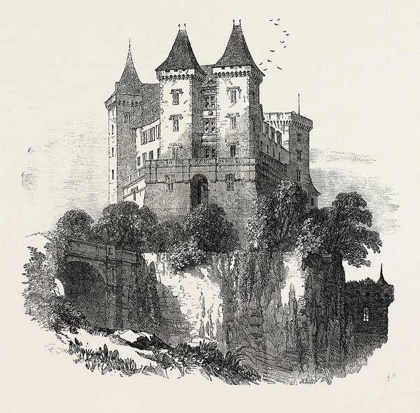 1854 Drawing - The Chateau At Pau France 1854 by French School