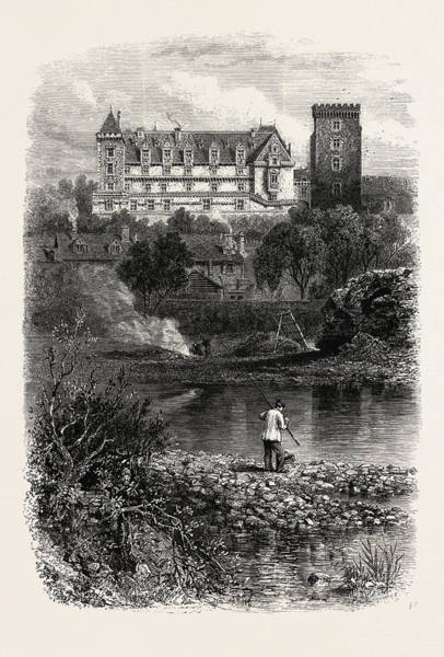 Chateau Drawing - The Chateau Of Pau, The Pyrenees, France by French School