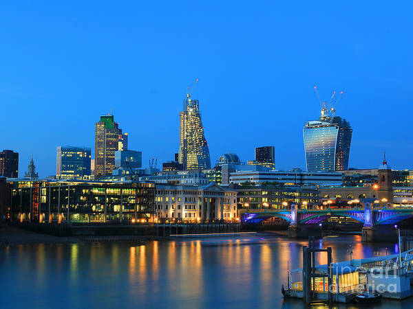 Square Mile Wall Art - Photograph - The Cheesegrater And The Walkie Talkie by Jasna Buncic