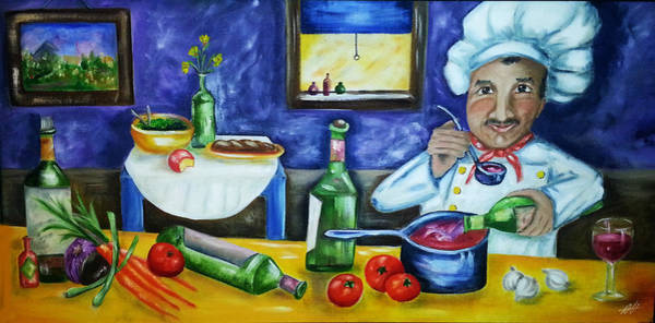 Painting - The Chef by Diana Haronis