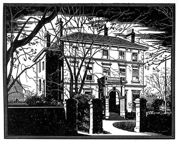 Haunted House Drawing - The Cheltenham Ghost The Street Front by Mary Evans Picture Library