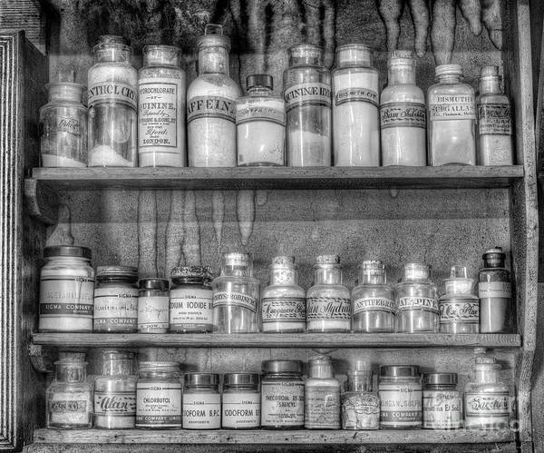 Photograph - The Chemist's Shelf by Russell Brown