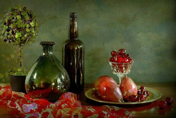 Wall Art - Photograph - The Cherry Plate by Diana Angstadt