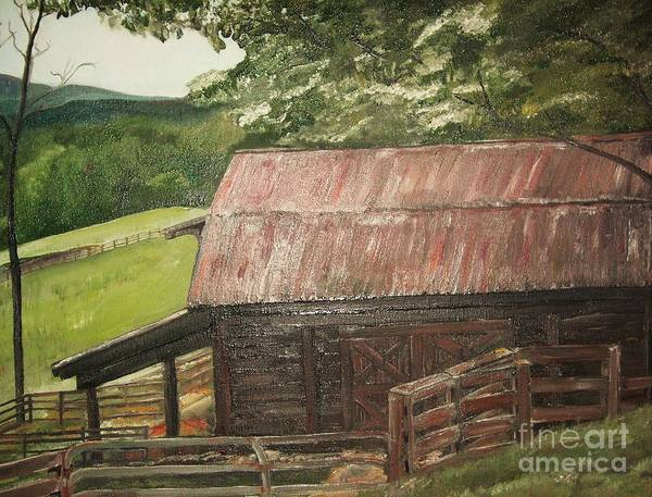 Painting - The Cherrys Barn by Jan Dappen