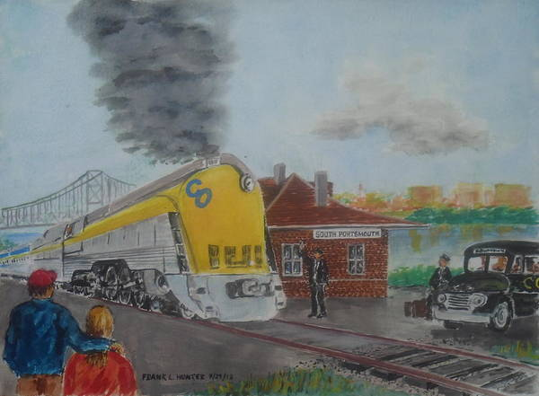 Chesapeake And Ohio Wall Art - Painting - The Chesapeake And Ohio George Washington At South Portsmouth Station by Frank Hunter