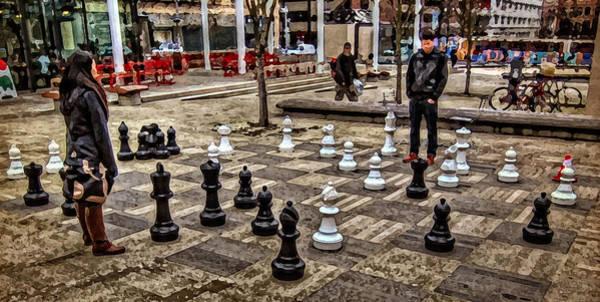 The Chess Match In Portland Art Print